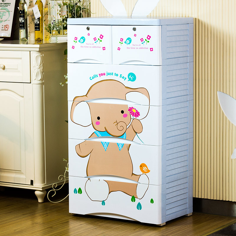Genuine Cartoon Baby Wardrobe Drawer Storage Cabinets