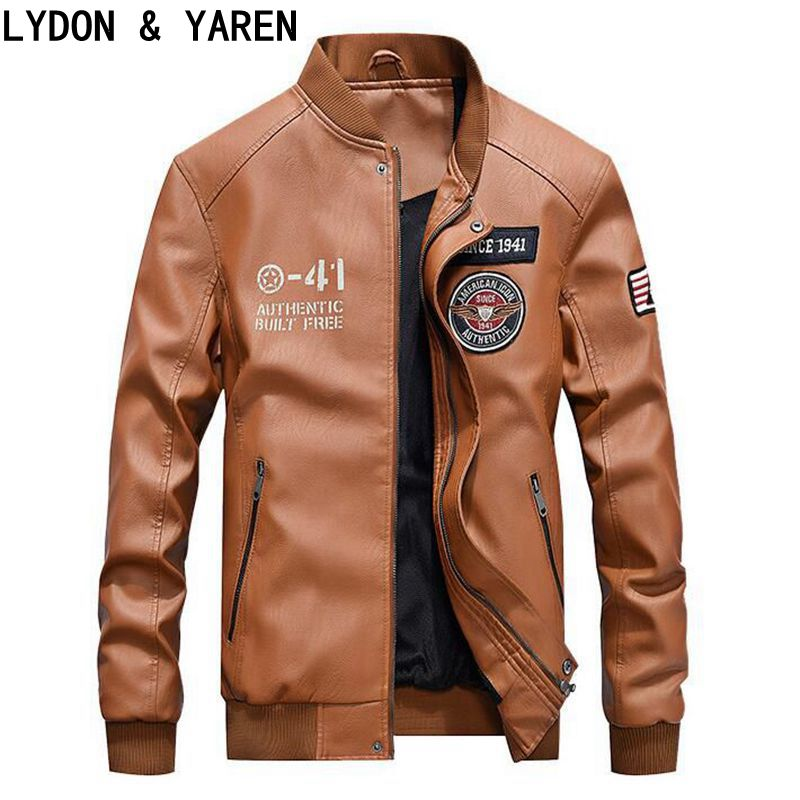 Leather coat new winter M/4XL Classic Style Motorcycle Leather Jacket For Men Thick Winter Slim Mens Leather Jacket Men Apparel