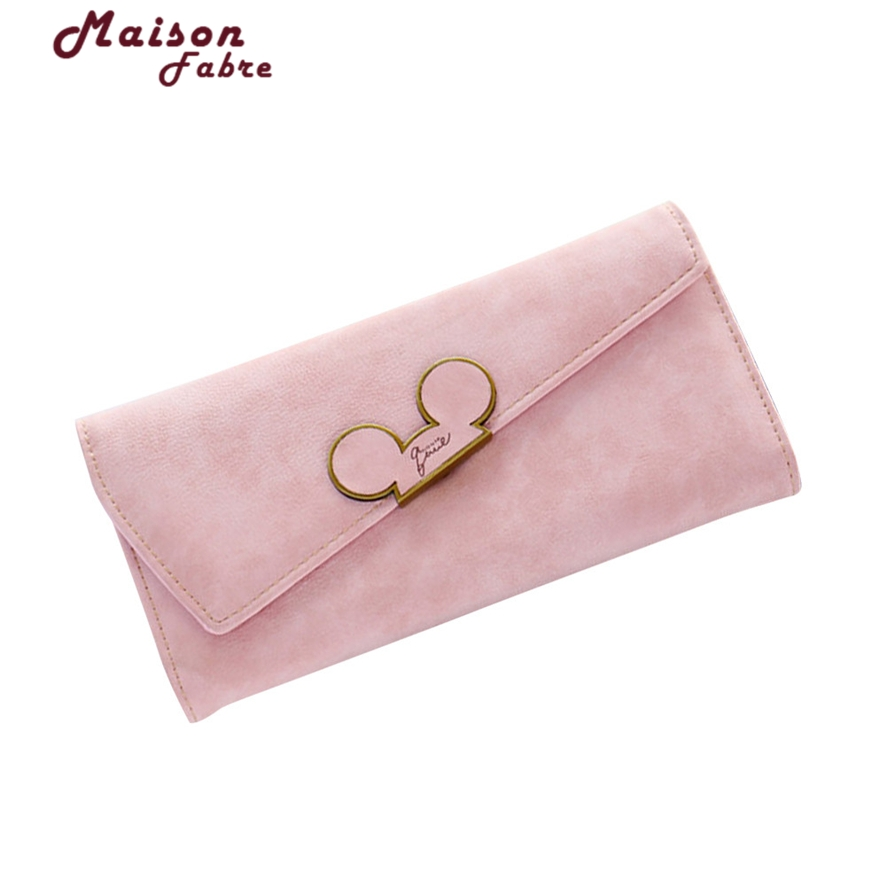 Fashion designer Color Scrubs Long Women Wallet Ladies Mickey Purse Coin purses holders Lady Pocket Wallets #23 simline fashion genuine leather real cowhide women lady short slim wallet wallets purse card holder zipper coin pocket ladies