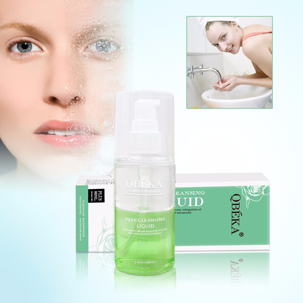 Free Shipping QBEKA Moisturizing Facial Cleansing Oil for Makeup Remover Face Cleanser Oil