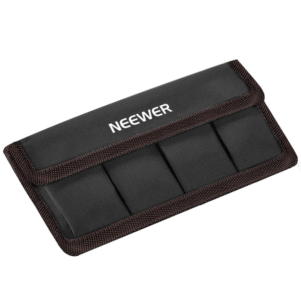 Neewer DSLR Battery Bag Holder Case for AA Battery and lp-e6 lp-e8 lp-e10 lp-e12 en-el14 en-el15 fw50 f550 battery bags coffee