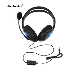Kebidu Wired אוזניות עם מיקרופון אודיו אילם מתג משחק אוזניות רעש ביטול אוזניות עבור Sony PS4 מחשב משחקי מחשב