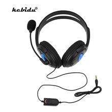 Kebiduหูฟังแบบมีสายหูฟังพร้อมไมโครโฟนเสียงปิดเสียงเกมหูฟังชุดหูฟังสำหรับSony PS4คอมพิวเตอร์PC Gaming