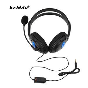 Image 1 - kebidu Wired Headphone With Microphone audio Mute switch Game Earphone Noise Cancelling Headset for Sony PS4 Computer PC Gaming