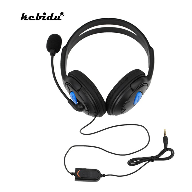 kebidu Wired Headphone With Microphone audio Mute switch Game Earphone Noise Cancelling Headset for Sony PS4 Computer PC Gaming