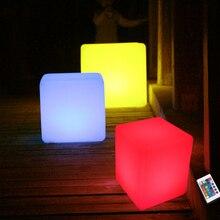 цена 10cm Cube decorative battery operated RGB LED table lamps for bar,hotel,room Free shipping онлайн в 2017 году