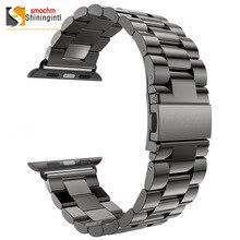 Модный ремешок из нержавеющей стали для Apple Watch/Sport/Edition 38 мм 42 мм ремешок для наручных браслетов для Apple watch Series 1, 2 и 3