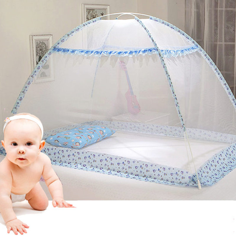 Blue Pink Cartoon Baby Bed Canopy Portable Folding Crib Netting Tent Without Bottom 80*100/90*140 Cm Baby Bed Mosquito Net 1pcs
