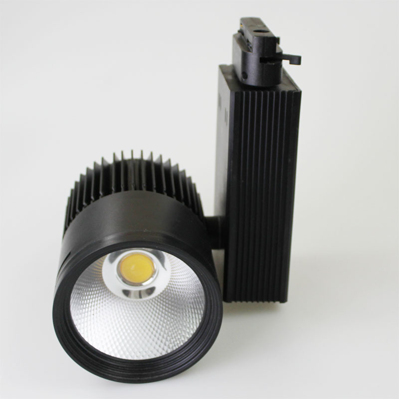 Fedex Free Shipping 20pc lot 30w LED cob track light for commercial lighting lamp Color optional