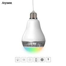 Anysane sans fil télécommande Bluetooth 4.0 RGB Led Changement de Couleur Lampe Ampoule peut jouer de la musique de contrôle Peut Être Obscurci par téléphone