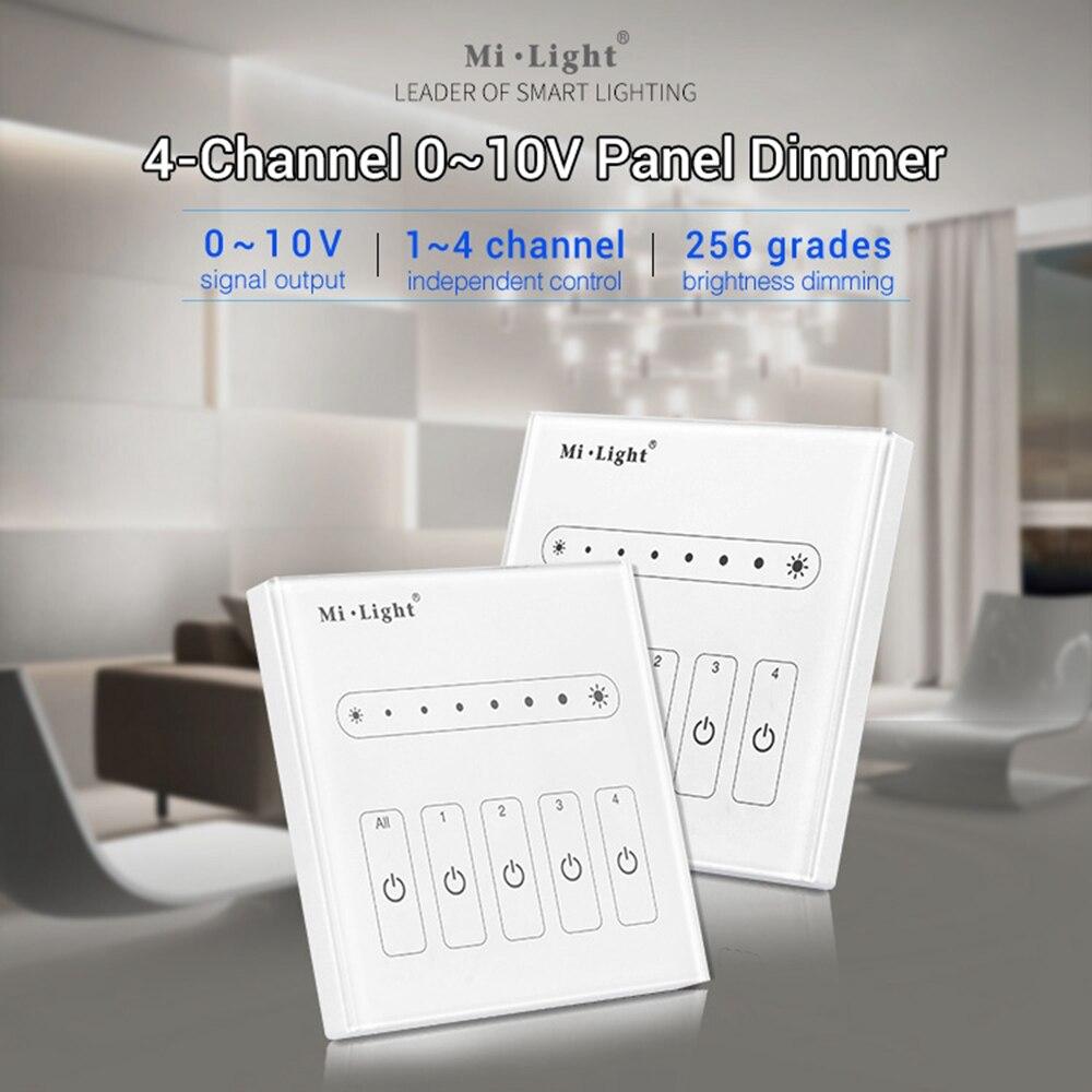 Milight L4 4-Channel 0~10V Led Panel Dimmer Controller Brightness Adjust For Single Color Led Strip Light
