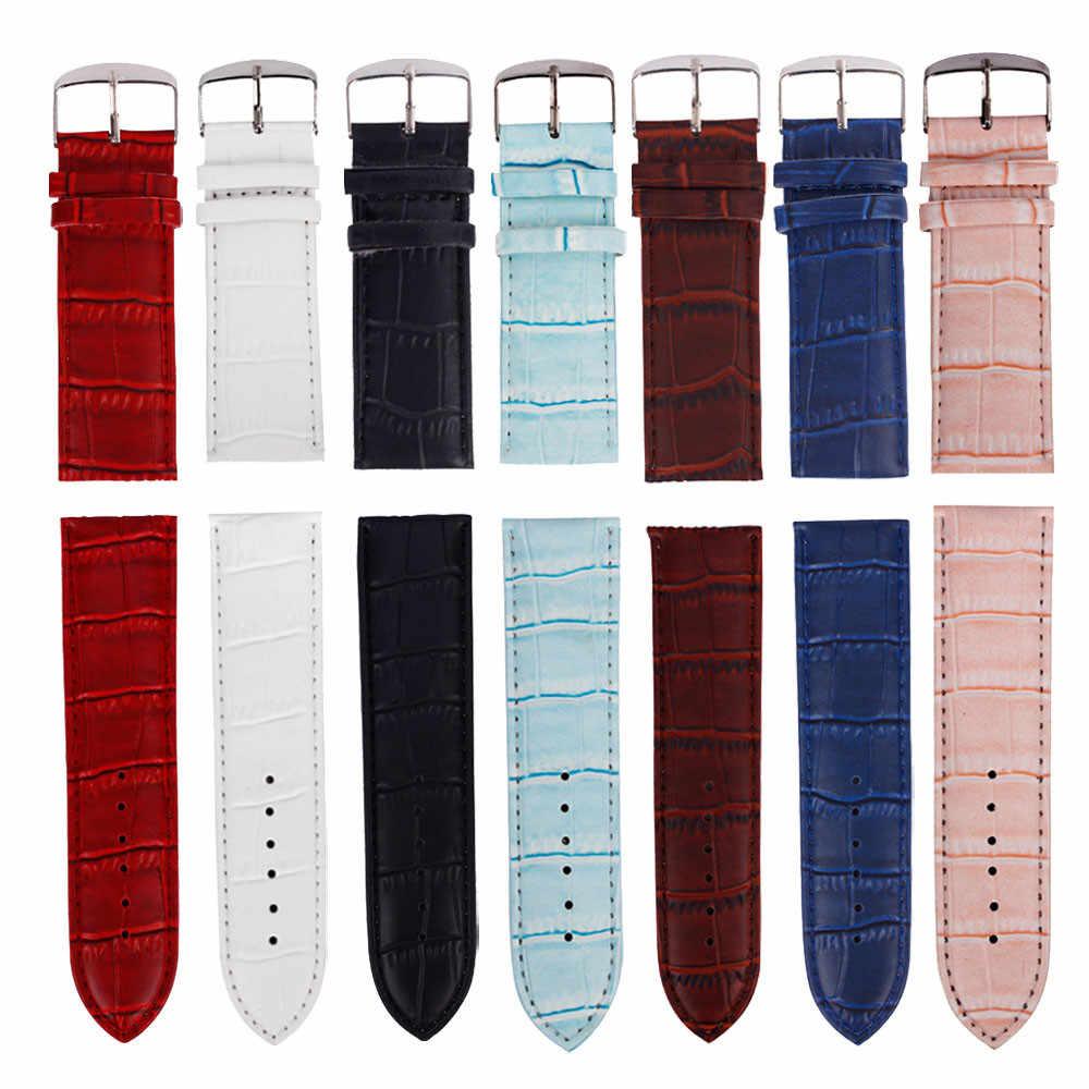 حزام (استيك) ساعة 12 مللي متر ، 14 مللي متر ، 16 مللي متر ، 24 مللي متر ، 26 مللي متر جودة عالية لينة العصابة جلد حزام الصلب مشبك ساعة معصم الفرقة Watchbands