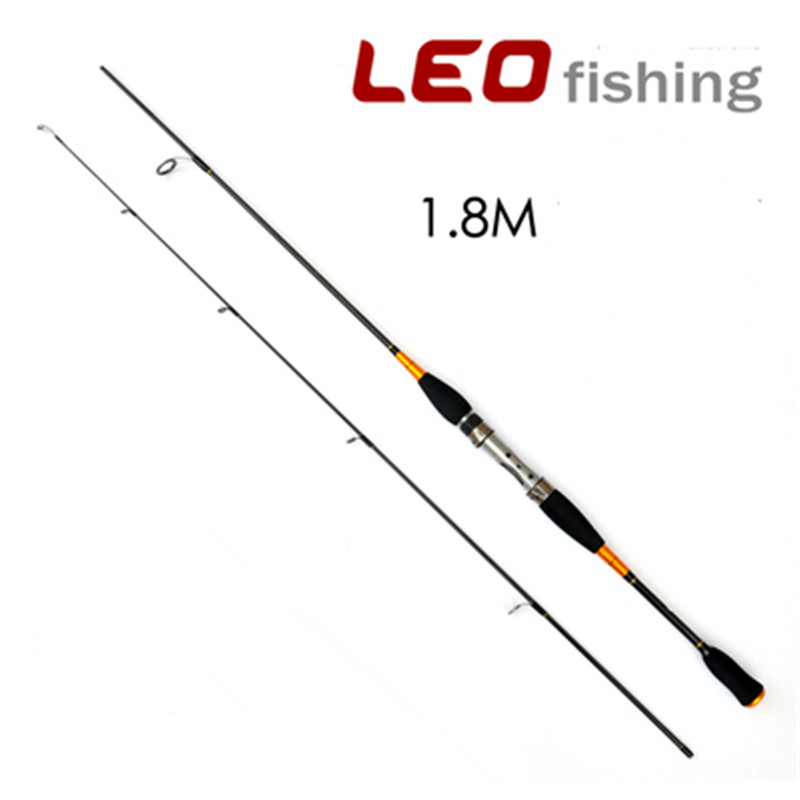 LEO 1.8M 200g Carbon Lure Rod 2 Section Lightweight Portable Sea Water Fishing Rod Pole Stick Fishing Tackle Travel Spinning Rod
