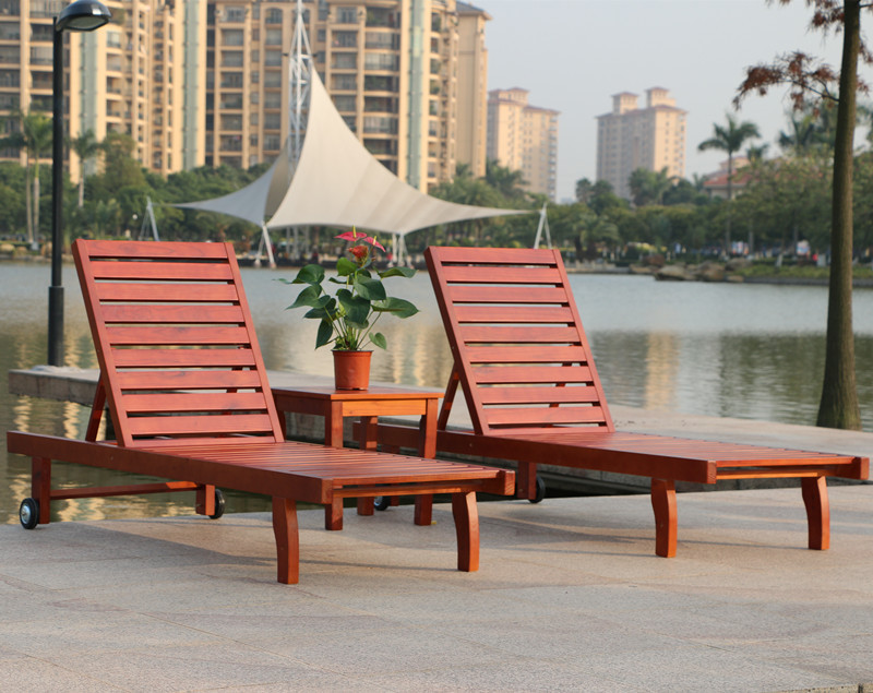 Rattan Yixuan outdoor wood deck chair recliner lounge chair pool chaise lounge chairs beach chair 2021-in Outdoor Tables from Furniture on Aliexpress.com ... & Rattan Yixuan outdoor wood deck chair recliner lounge chair pool ...
