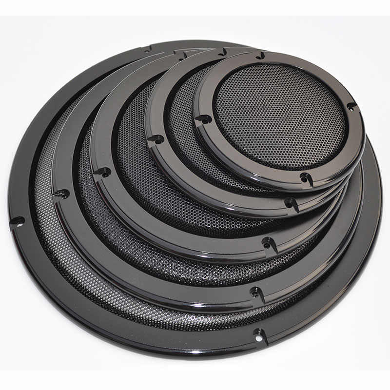 "For 2""/4""/5""/6.5""/8""/10"" inch Car Audio Speaker Conversion Net Cover Decorative Circle Metal Mesh Grille #Black"