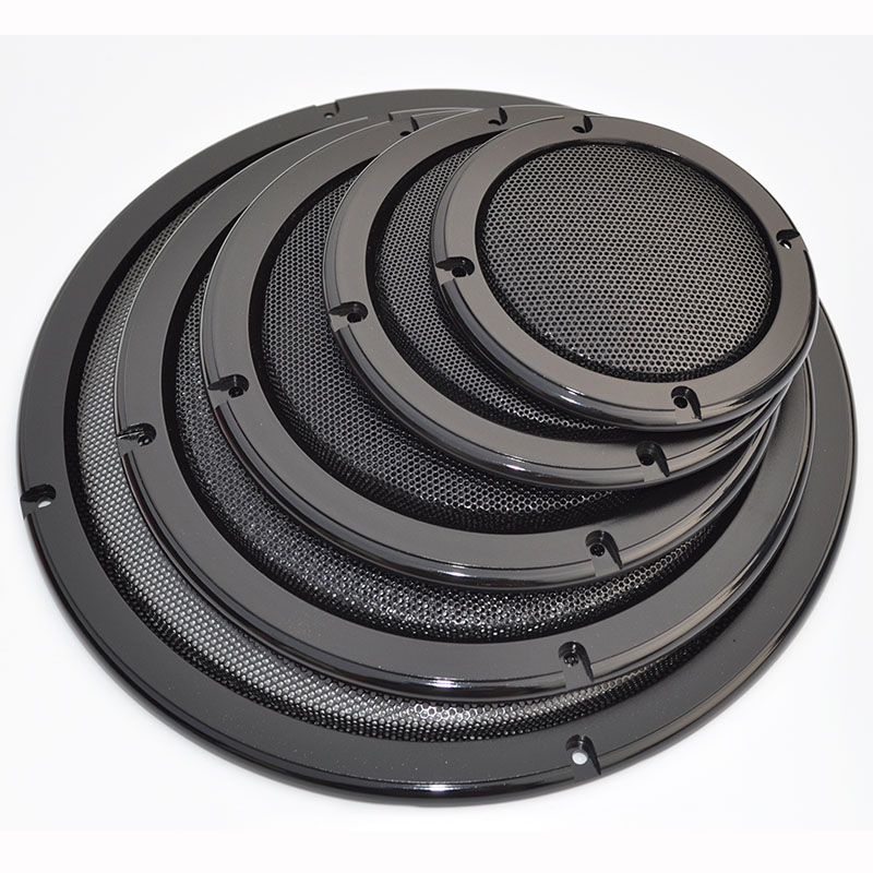 "2/""-10/"" inch Speaker Cover Subwoofer Audio Metal Mesh Grille Decorative Circle"