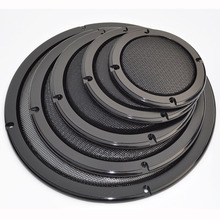 """For 2""""/4""""/5""""/6.5""""/8""""/10"""" inch Car Audio Speaker Conversion Net Cover Decorative Circle Metal Mesh Grille #Black"""
