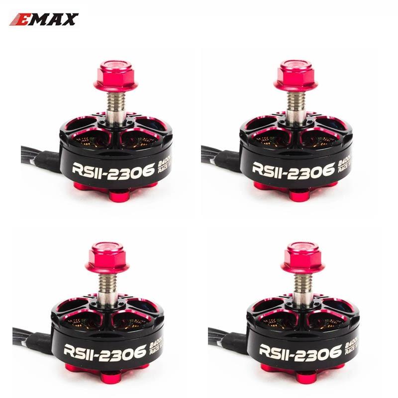 1/4 piezas Emax RSII 2306 Motor sin escobillas 2-6 s Lipo 1600KV 1700KV 1900KV 2400KV 2600kv CW CCW Motor para FPV Racer Drone Quadcopter