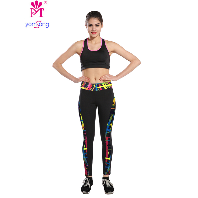 Yomsong 2017 New Fashion Leggings Women Workout Leggins font b Fitness b font Leggings Stretch Pants
