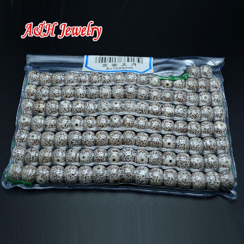 A + quantité 8x10mm Bodhi perles pour bouddhisme tibétain fabrication de bijoux matériaux 2 sacs/lot