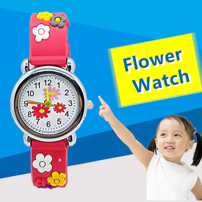 Fashion HBiBi Brand Colorful Flower Watch Children Kids Watches Girls Clock Casual Child Quartz Wristwatch Montre Pour Enfants
