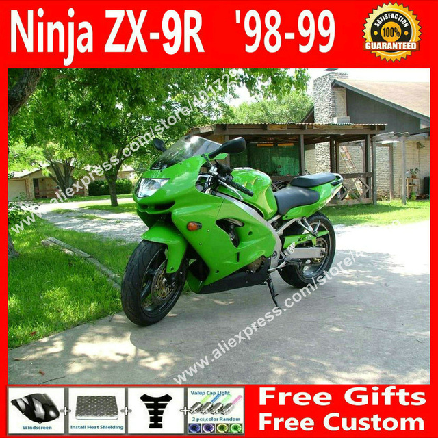 High quality  Fairings for bodywork  Kawasaki  1998 1999  ZX9R 98 99  OEM grass green motorcycle  fairing MJ985