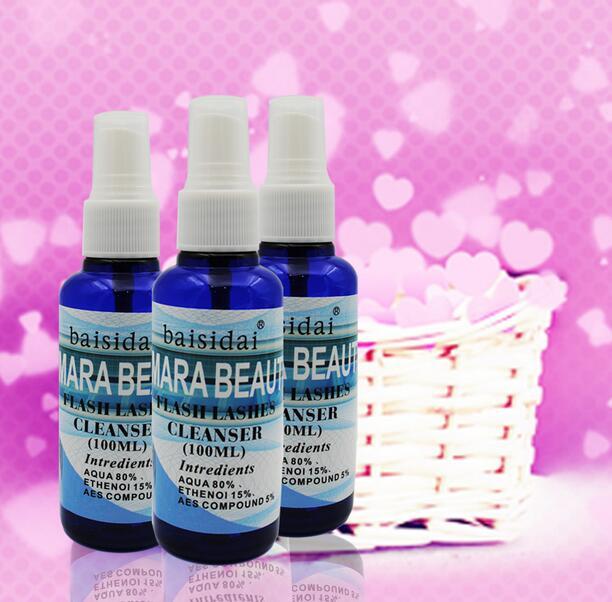 100ml Individual Lash Cleanser Primer Spray Eyelash Extension Pre treatment Eyelash Extension Clean Liquid For Lashes