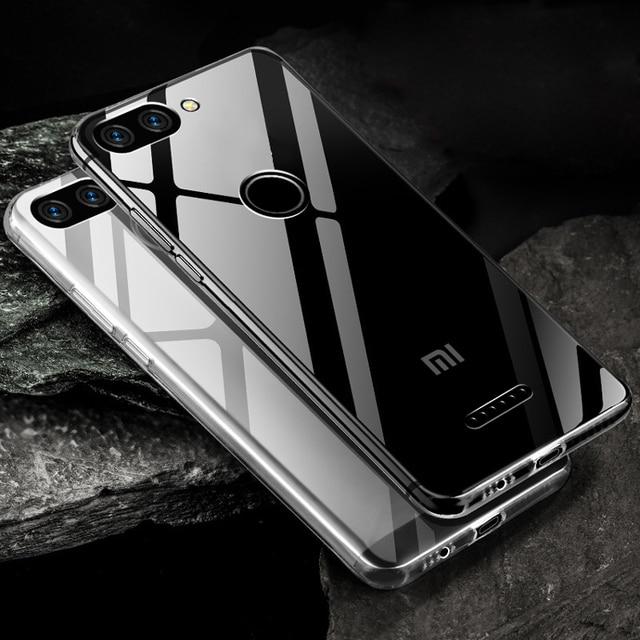 Case on Redmi 6 Redmi 6 Pro Case Ultra Thin Clear Transparent Soft TPU Silicon Cover Case For Xiaomi Redmi 6A Note 6 Pro