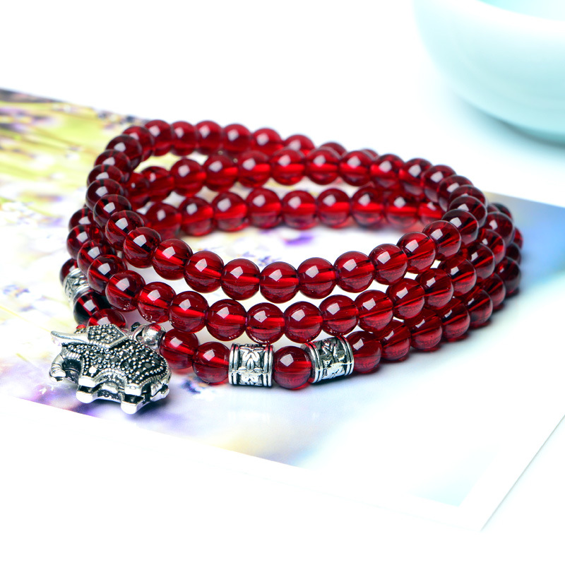 Drop shippingCrystal bracelet han edition accessories wholesale hot products Resembling a garnet silver inlaid auspicious like