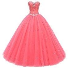 תמונה אמיתית מדהים Quinceanera שמלות 2019 קריסטל חרוזים נשף כדור שמלת שמלות נשף Vestido דה חבושים Robe דה Soiree