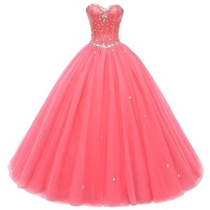 Real Picture Gorgeous Quinceanera Dresses 2019 Crystal Beads Debutante Ball Gown Prom Dresses Vestido De Quince Robe De Soiree(China)