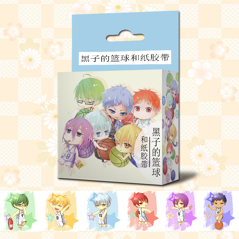 1.5cm*5m Anime Kuroko's Basketball Cartoon Washi Tape Adhesive Tape DIY Scrapbooking Sticker Label Masking Tape