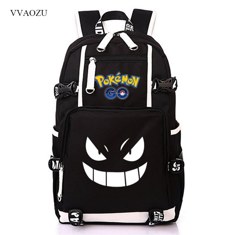 Sac à dos Pokemon Cosplay sac à dos de poche monstres Gengar sac d'école pour adolescentes garçons sacs de voyage Nylon Mochila