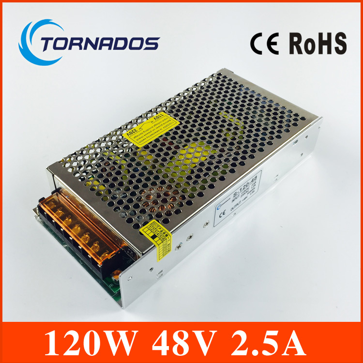 120W 48V 2.5A Single Output Switching power supply 48V DC for LED Strip light AC to DC LED Driver S-120-48 allishop 300w 48v 6 25a single output ac 110v 220v to dc 48v switching power supply unit for led strip light free shipping