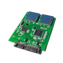 Dual SD card to SATA high speed dual chip dual SD transfer SATA hard disk adapter SD to the serial port