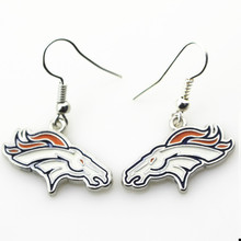 New arrive 6pair/lot Denver Broncos Football sports earrings women erring USA football team jewelry