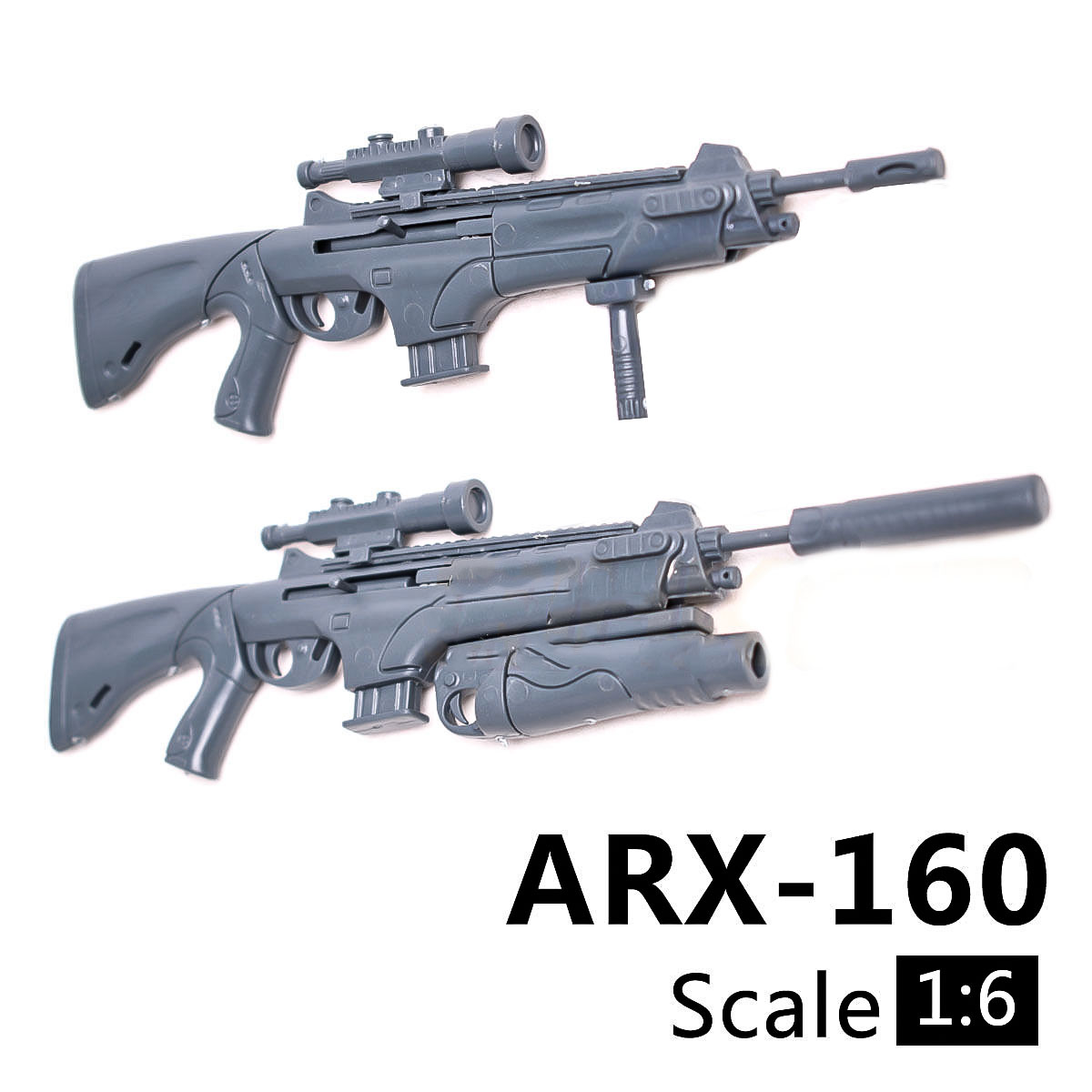 1/6 Scale ARX160 Rifle Gun Model Tactical Gun With Launcher Assembly Building Bricks Weapon For Action Figure