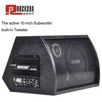 Универсальный 10 дюймов Автомобильный сабвуфер Max 400 Вт HIFI активный сабвуфер мощные басы Авто Аудио Звук дома НЧ динамик Динамик с усилителем