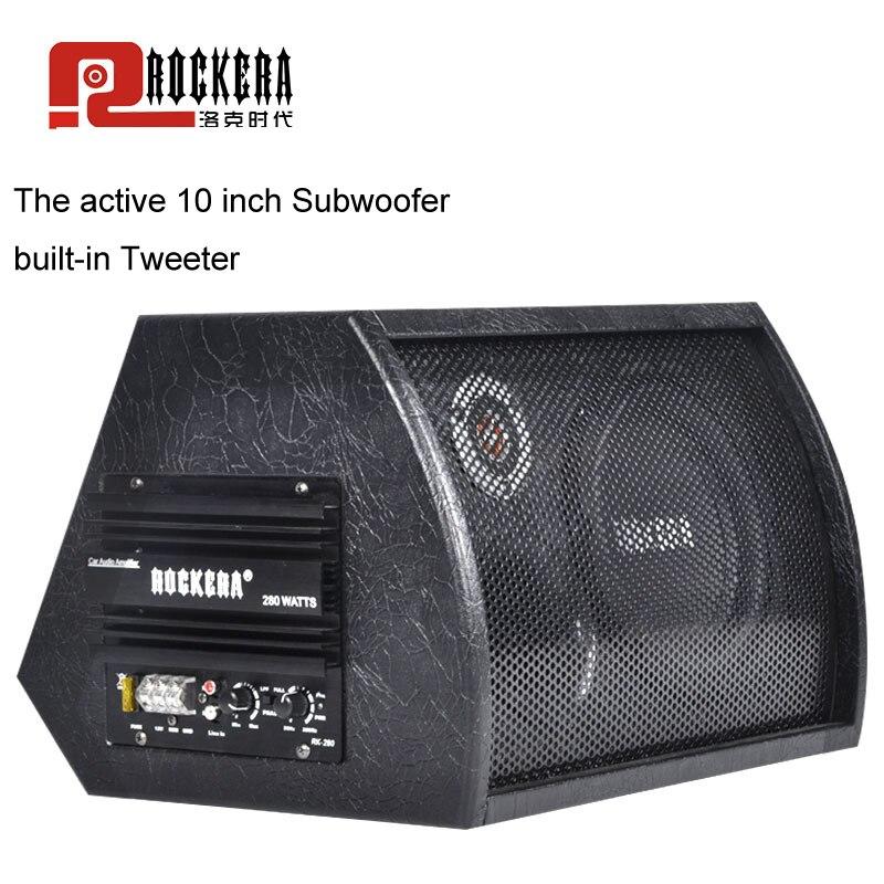 Универсальный 10 дюймов Автомобильный сабвуфер Max 400 Вт HIFI активный сабвуфер сильный бас Авто Аудио Звук Домашнего НЧ динамик с усилителем