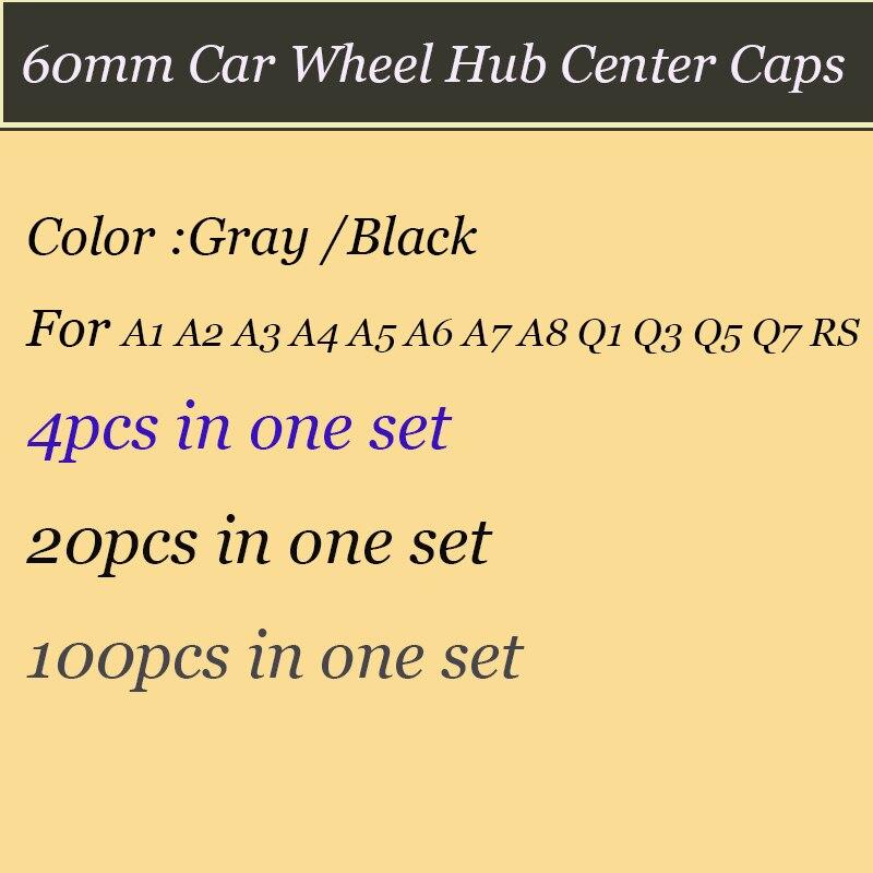 Набор 60 мм ABS черный Серый цвет эмблемы автомобиля диски ступица колеса охватывает Авт ...