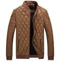 2017 New Fashion Metrosexual Cashmere Leather Jacket Men Motorcycle Jacket Slim Pu Jacket Winter Jacket for Men