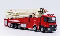 Exquisite Alloy Model 1:50 SANY 62m Tower Fire Truck Vehicles DieCast Toy Model for Collection Decoration
