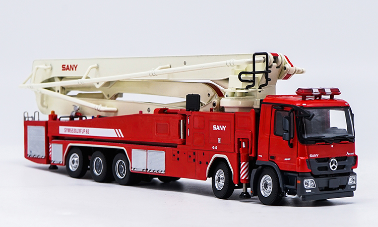 Exquisite,Collectible Alloy Toy Model Gift 1:50 Scale SANY 62m Tower Fire Truck Vehicles DieCast Toy Model for DecorationExquisite,Collectible Alloy Toy Model Gift 1:50 Scale SANY 62m Tower Fire Truck Vehicles DieCast Toy Model for Decoration