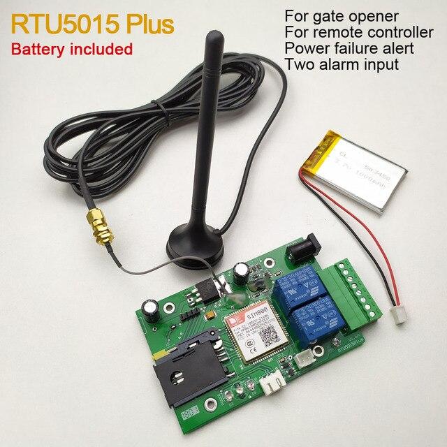 Пульт дистанционного управления RTU5015 Plus GSM с двумя входами сигнализации и одним релейным выходом и аккумулятором управления SMS для выключения питания