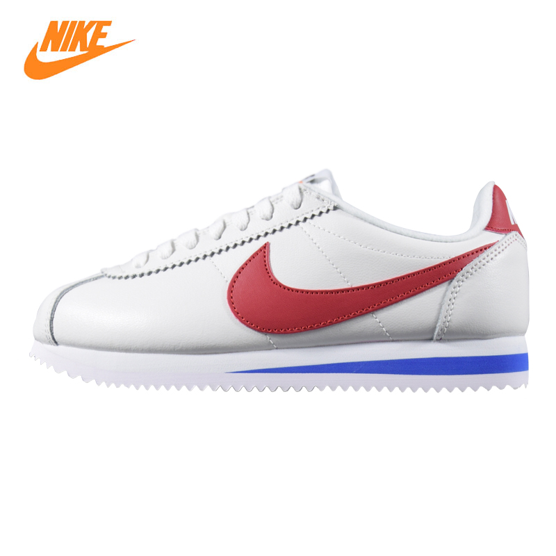 Nike CLASSIC CORTEZ Women's Running Shoes, White / Beige, Shock Absorption Wear-resistant Breathable 905614 100 881205 101 стоимость