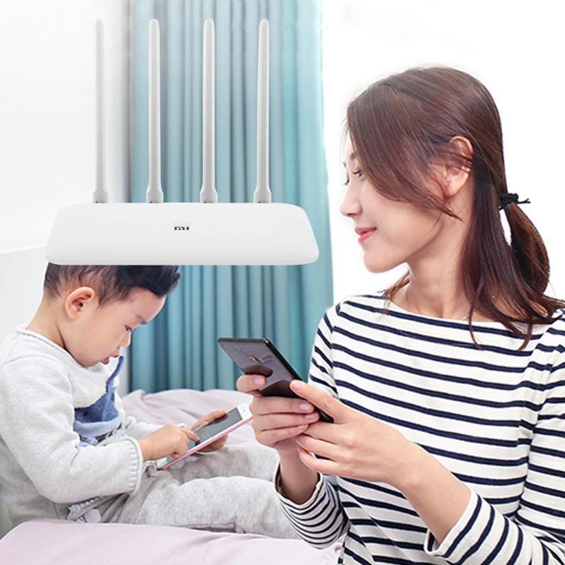 Xiao mi routeur 4A Gigabit Version 2.4 GHz 5 GHz WiFi 1167 Mbps WiFi répéteur 128 mo DDR3 haut Gain 4 antennes prolongateur de réseau