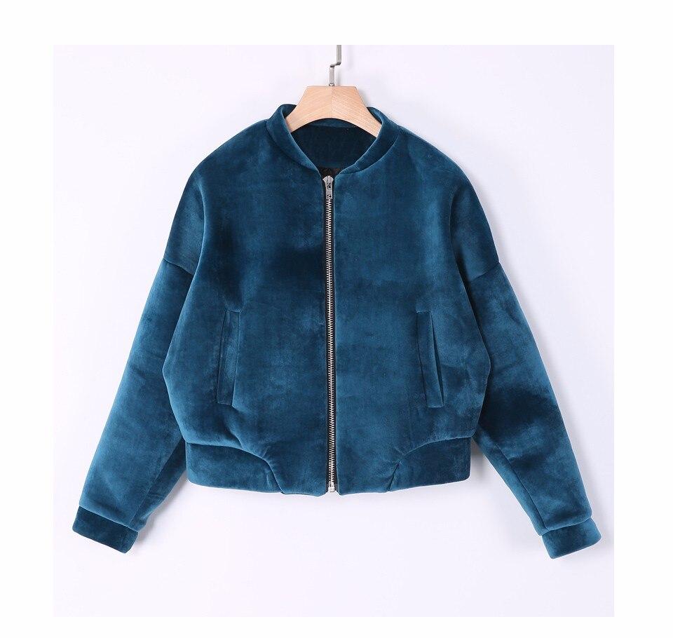 OLGITUM Coat Women Warm Velvet Solid Color Short Long Sleeves Coat 2017 New Fashion Winter Basic