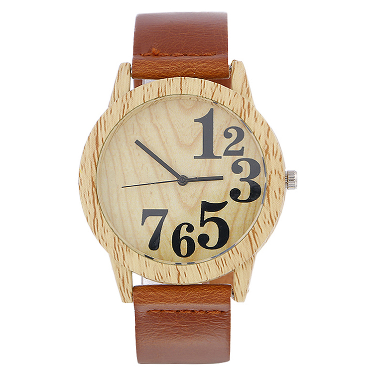 2020 New Coming Wood Women Watches Retro Casual Vintage Men Leather Quartz Clock Woman Fashion Simple Face Wooden Dress Watch