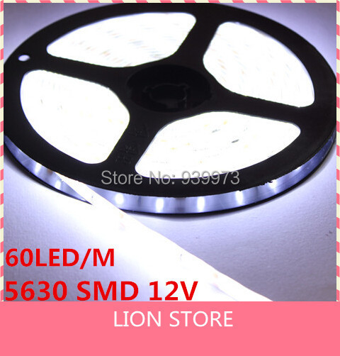 S609 Super Bright LED Strip Light 5630 Luminaria High Power 300 LED 5M Christmas Lighting Cold/warm white Waterproof  5M/lot
