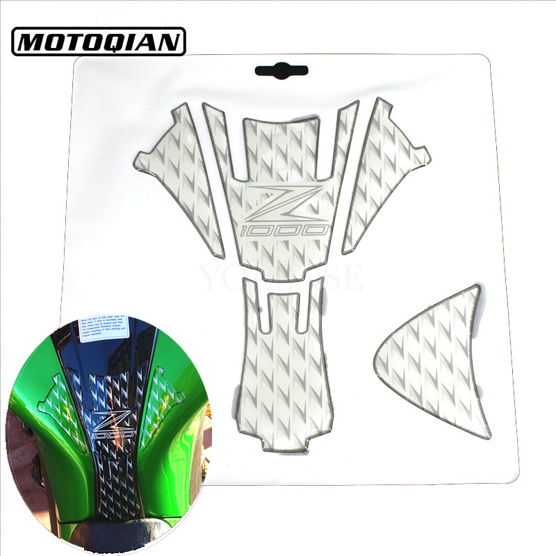 Gas Fuel Tank Protector Pad Stickers Carbon Fiber 3D Decals Emblem Protection For Kawasaki Z1000 Z 1000 2007 2008 2010 2014 2016 brand new motorcycle carbon fiber 3d tank pad protector for ninja250r ex250r 2008 2011 2009 2010